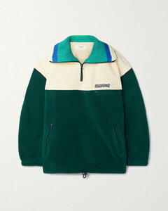 Mamet Cotton And Wool-blend Trimmed Fleece Jacket