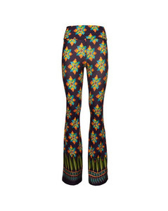 Ribbed Linen Sweater W/jacquard Fringes