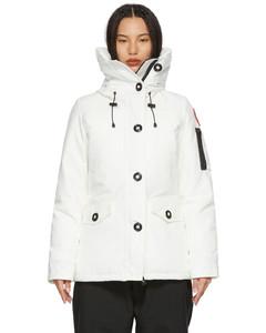 白色Montebello羽绒派克大衣