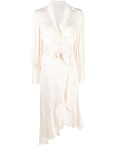 Beige short trench coat