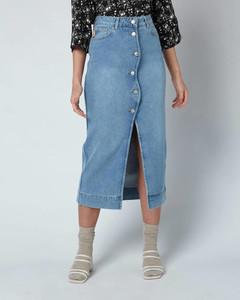 Women's Comfort Stretch Denim Skirt - Denim