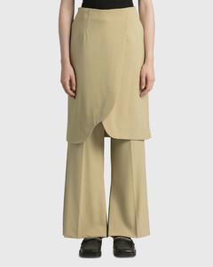 Irregular Skirt With Slit Pant