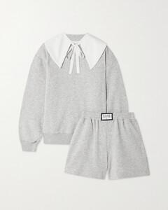 Diana Athpleasure Cotton-blend Jersey Sweatshirt And Shorts Set