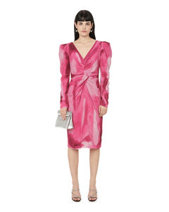Hybridge quilted nylon hooded down jacket