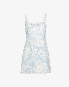 Brie floral-print linen mini dress