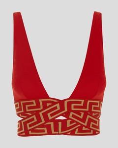 Isoli grey printed jersey sweatshirt