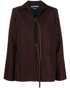 Sand wool blend oversize cardigan