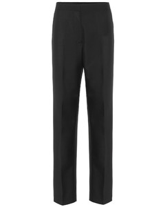 High-rise wool and mohair pants