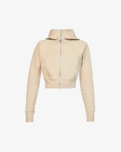 Jocou asymmetric wool-blend crepe shirt