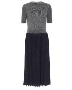 Park Avenue真丝和羊绒混纺中长连衣裙