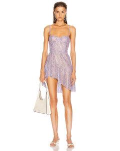 Asymmetrical Bustier Dress in Purple