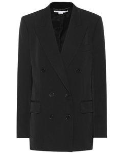 羊毛双排扣西装式外套