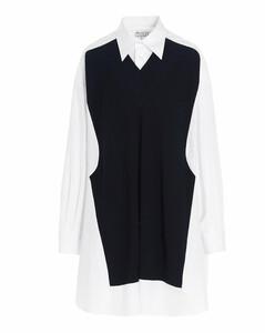Knit Panelled Shirt Dress