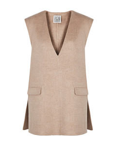 Alcoba taupe wool-blend tunic