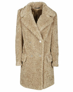 Chintz double-breasted trench coat
