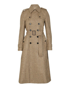 70'S Trench Coat in Prince Of Wales Check