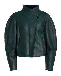 Acacina皮革与羊毛皮夹克