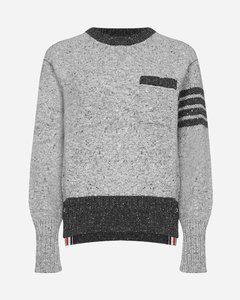 4-Bar wool and mohair sweater