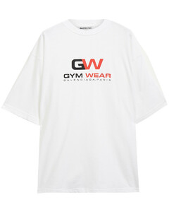Woman Oversized Printed Cotton-jersey T-shirt