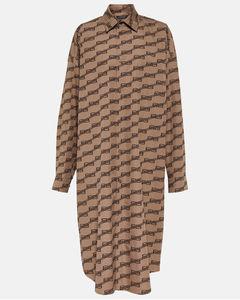 Pastel pink nylon down jacket