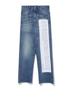 Word print jeans