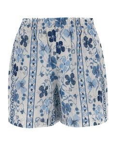 棉质高腰孔眼裙裤