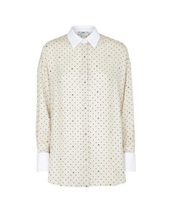 Pleated Georgette Dress Leopard