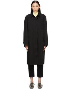 黑色华达呢大衣