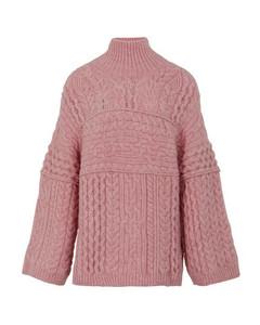 Raw high neck sweater