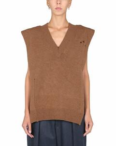 Distressed Side-Slit Knitted Vest