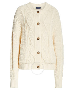 Polo Ralph Lauren Natural Boxy Cable Cardigan