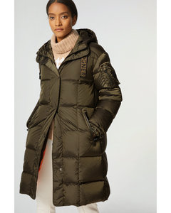 Fergy Down coat in Olive green