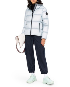 hooded feather-down puffer jacket