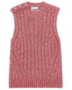 Chunky glitter knit vest