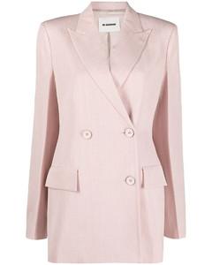 pinstripe single-breasted blazer