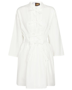 Linen and cotton minidress