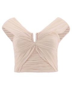 褶饰直筒裤