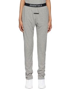 灰色徽标运动裤