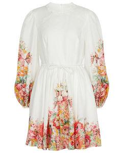 Mae floral linen minidress
