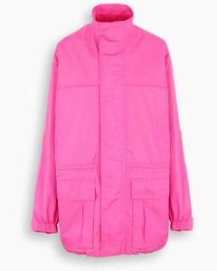 Fluo pink parka jacket