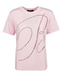 Women's Luuciiy Short Sleeve Cotton Shirt Dress - Mid Pink