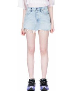Five Pocket Zip Skirt - Bleach