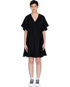 Ruffled Dress - Black