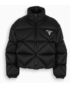 Black Re-Nylon quilted down jacket