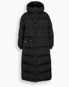 Black Re-Nylon long down jacket