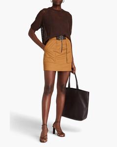 Crotcheted cotton polo shirt