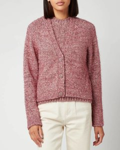 Women's Chunky Glitter Knitted Cardigan - Pink Nectar