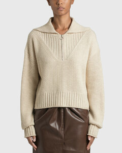 Jia Wool Cashmere Blend Cropped Polo