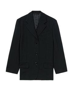 Yellow waffle-knit cashmere sweatpants
