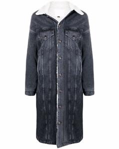 long-line denim jacket